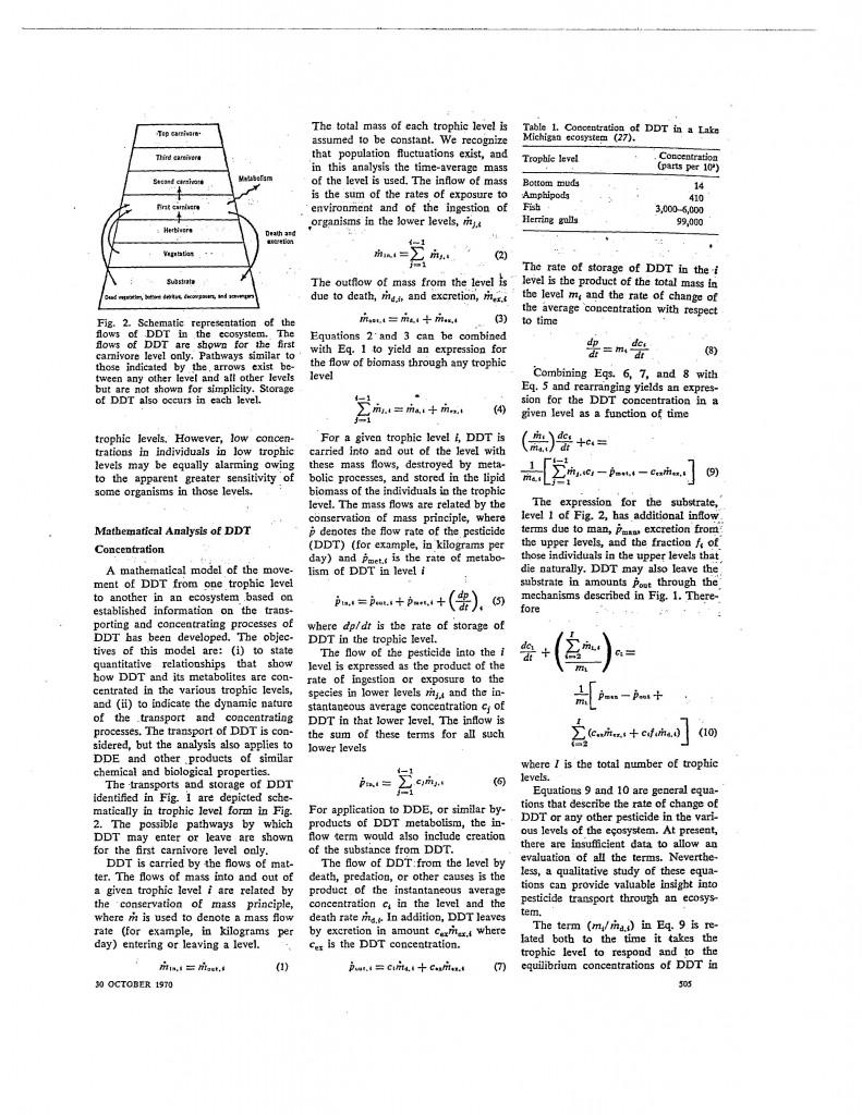 Systems-Studies-DDT-Transport, 170 Science 505, 30 October 1970