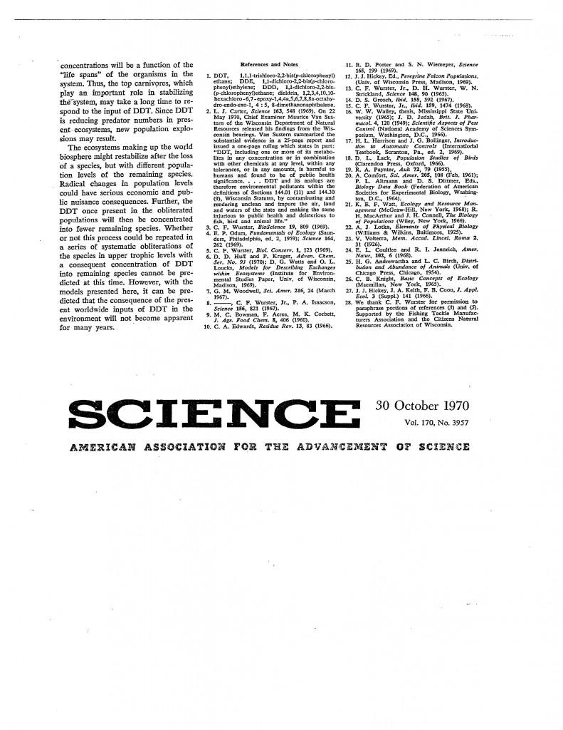 Systems-Studies-DDT-Transport, 170 Science 508, 30 October 1970