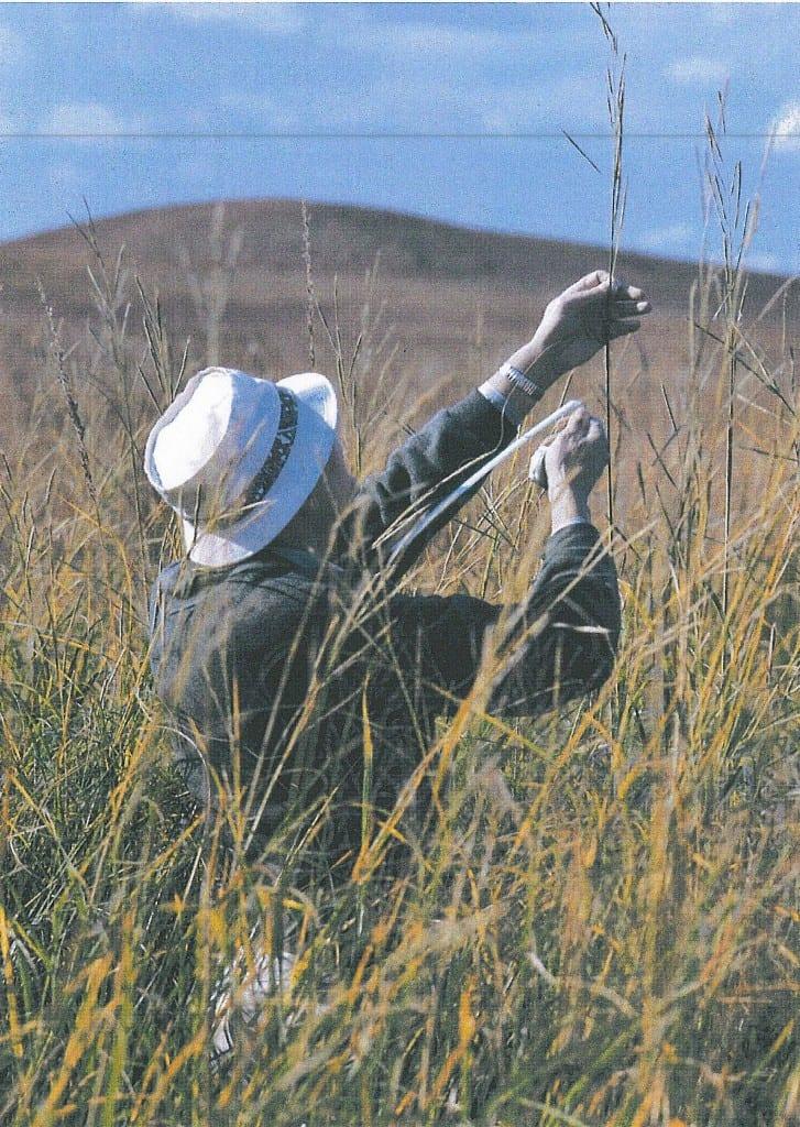 79.2 Dr. \ Lloyd C. Hulbert in Prairie Cordgrass